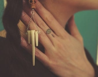 SALE! Skull bone earrings