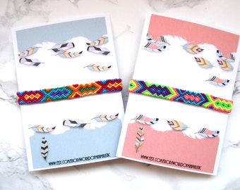 Rainbow colorful friendship bracelet, neon friendship bracelet, woven bracelet, beach bracelet, bohemian bracelet, bff bracelet