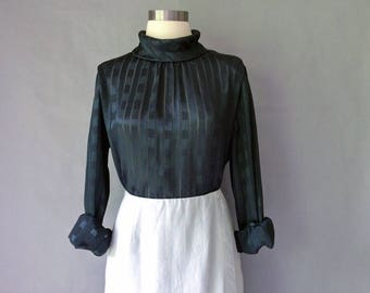 Vintage silky blouse shirt tunic top size S/M