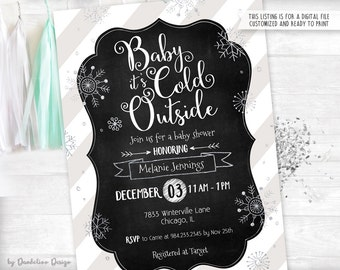 Baby it's Cold Outside Baby Shower Invitation Printable