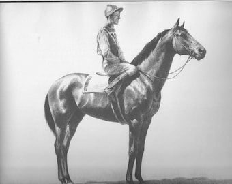 Horse Print CW Anderson Vintage Race Horse Thoroughbred Horse Racing Derby Equine Wall Art Vintage Equestrian Horse Decor 1940 Seabiscuit