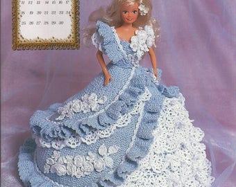 236.Barbie fashion doll dress-crochet pattern in pdf