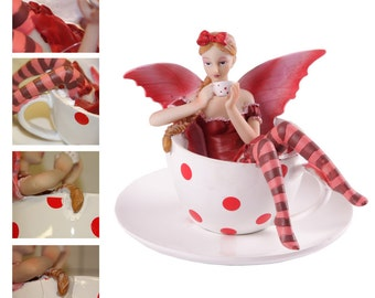Tea Cup Fantasy Fairy (5.1 inches)