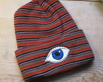 Blue Eye / Third Eye Beanie *Glow in the Dark*
