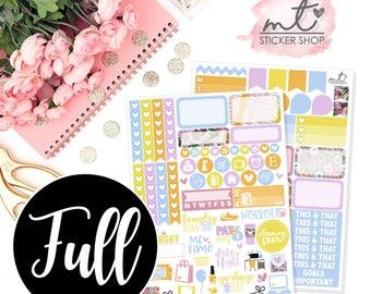 Kiss The Cook FULL Kit || Vertical || 150+ Planner Stickers || Erin Condren Life Planner