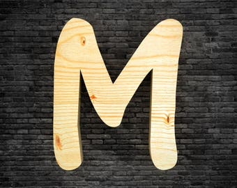 Letters in wood - M