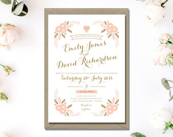 Printable Wedding Invitation Set | Printable Wedding Invitation Suite | Digital Invitation | DIY Wedding Invitation | Printable Invitations