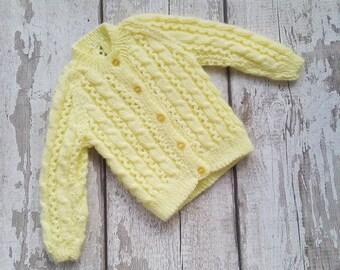 Vintage style baby cardigan, Baby knitwear, Wool Baby cardigan, Knit baby jacket, Wool Baby sweater, Baby knit cardigan, Unisex baby knits