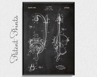 SCUBA Gear 1943 Patent Print, Sports Wall Decor, Sports Wall Art, Sailboat Wall Art, Sailboat Decor, Scooter, Water Sports Patents