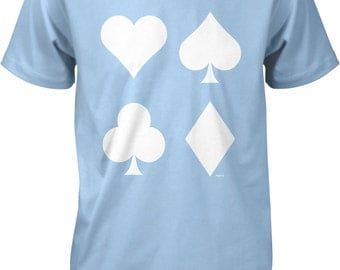 Playing Card Suits, Poker Player Men's T-shirt, NOFO_00845