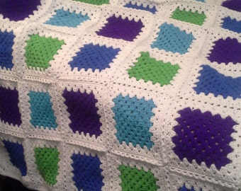 Crocheted Boy Blanket