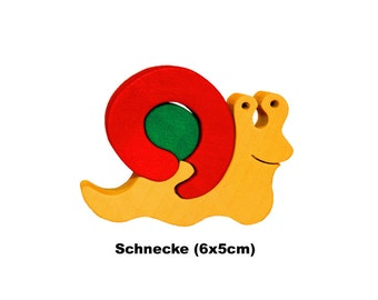 Minipuzzle Snail / Handmade / Animals / Wooden toys / Forest / Waldorf / Montessori