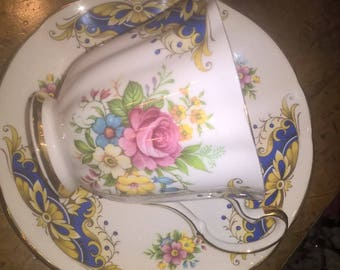 A vintage tea cup and saucer by Royal Adderley.