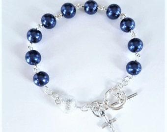 Royal Blue Rosary Bracelet