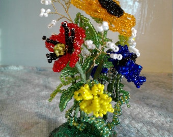 Miniature Beaded Flowers