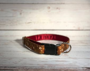 MADE TO ORDER- Dog Paw Print Dog Collar, Choose width- Buckle or Martingale- add Embroidery and/or Leash