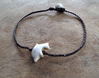 Dolphin anklets,Stone anklets,White anklets,handmade anklets