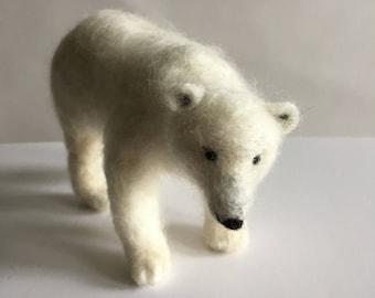 Handmade Needle Felted Polar Bear