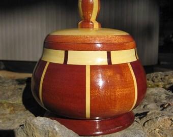 Wooden Jewelry Trinket Box, Handmade in the USA