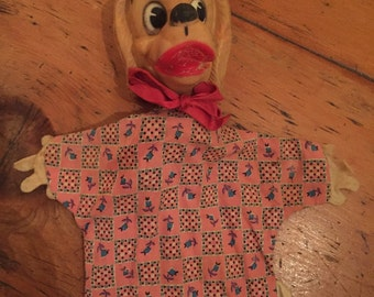 Vintage 'Lady' Disney hand puppet from Lady and the Tramp