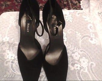 BALLY Vintage 1980s High Heel Shoes Black