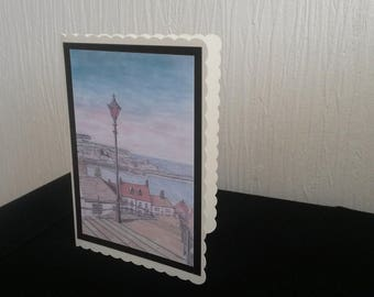Whitby Steps - Greetings Card A5
