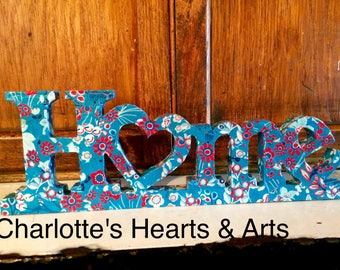 Lovely 'Home' sign. A great gift for a new home or lovely on any shelf of your home