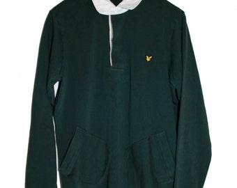 LYLE & SCOTT vintage green long sleeve polo