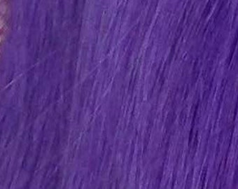 """Remy Human Hair Extension Clip in Streak -  Lilac 14"""""""