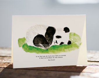 Greeting card - Baby panda sleeping