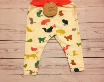 Animal Print Baby leggings | Cute Baby Leggings | Cat Leggings for Baby | Leggings for Baby | Baby Clothes with Cats | Unique Baby Clothes
