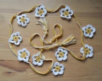 Daisy Flower Crochet Bunting