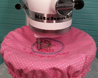 Standmixer Bowl cover/kitchenaid/pink/embroidered/cherry