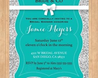 Tiffany and Co Themed Bridal Shower Invitation ǁ Tiffany and Co Themed Bridal Shower Invite ǁ Bridal and CO Bridal Shower