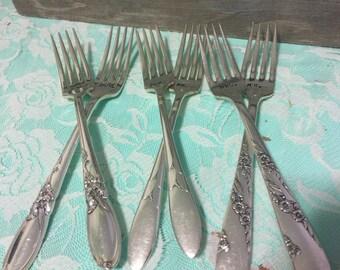 Mr & Mrs. Handstamped cake forks