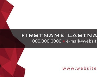 Business Card - Red Triangles