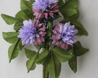 boutonniere for women clover, handwork a cotton is made out of natural fabric.