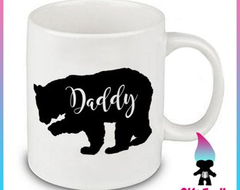 Daddy Bear Mug, New Dad Gift, Dad Mug, Father's Day Gifts, Dad Gifts, Baby Shower Gift, Father Gift, Dad Tea Cup, Dad Present