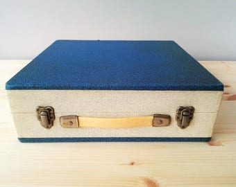60s/70s Cheney Vinyl Record Storage Case - Vintage Record Storage Box - Made In England