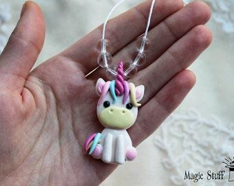 Unicorn pendant Unicorn necklace Unicorn charm Fairytale jewelry Unicorn jewelry White unicorn Summer necklace Summer outdoor Summer party