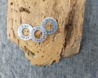 Custom Stamped Metal Washers for Necklace