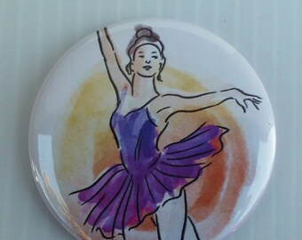 "Ballet, Ballerina 2.25"" Button, Mirror, or Magnet"