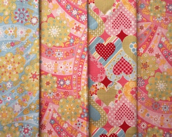 The Lizzie Collection by Anna Griffin for Windham Fabrics - Quarter Yard Bundle - 4 pieces