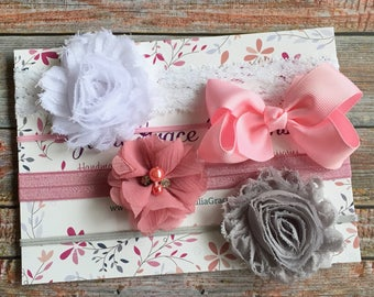 Baby Headbands/Baby Headband Set of 4/Baby Headbands/Newborn Headbands/Toddler Headbands/Baby Girl Headbands/Girls Headbands/Infant Headband