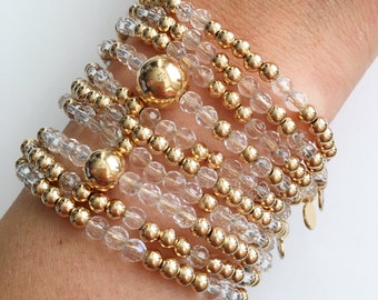 Quartz Gold Stackable Bracelets