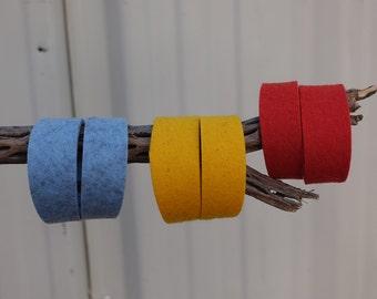 Wool Felt Bracelets - German Milled 100% Wool - FilzFelt.