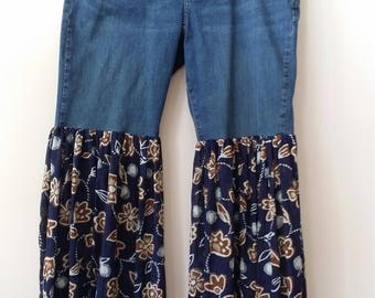 Redesigned BELL BOTTOM JEANS, Size 16