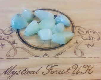 Aquamarine Tumble stones, Healing Crystals And Stones, March Birthstone, Anti Anxiety, Reiki, Anti Anxiety, Meditation, Self Expression