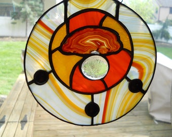 Geode in orange and yellow