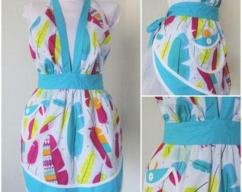 Colorful apron Vintage Style Full Apron Boho-chic apron Wedding gift Cute retro apron Handmade apron Womens aprons